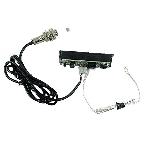 Preisvergleich Produktbild LED 4 Geschwindigkeit Tachometer RPM NPN Halle Näherungsschalter Sensor 3 Leiter Schließer