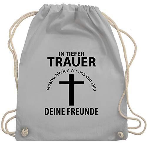 Gruppe Kostüm Alkohol - JGA Junggesellenabschied - In tiefer Trauer - Unisize - Hellgrau - WM110 - Turnbeutel & Gym Bag