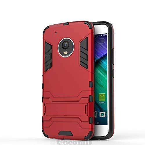 Cocomii Iron Man Armor Motorola Moto G5 Plus Hülle [Strapazierfähig] Taktisch Griff Ständer Stoßfest Gehäuse [Militärisch Verteidiger] Ganzkörper Case Schutzhülle for Moto G5 Plus (I.Red) High-impact-holster