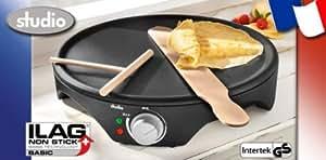 Appareil à plaque chauffante à crêpes pancakes avec holzbesteck studio