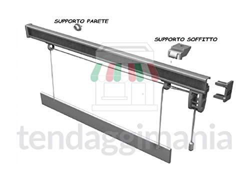 Bastone binario per tenda a pacchetto a vetro professionale sgancio rapido in alluminio varie misure (l. 60 cm)