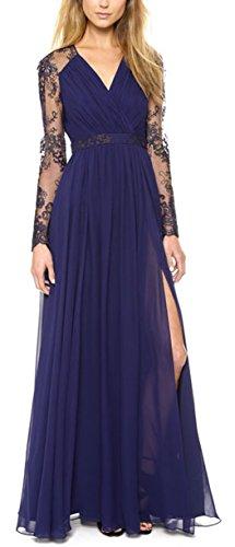 Sommer Kleider Damen Casual Spitze Stickerei Spleißen Lange Kleid Strandkleider Elegant Tunikakleid...