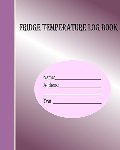 Fridge temperature log book