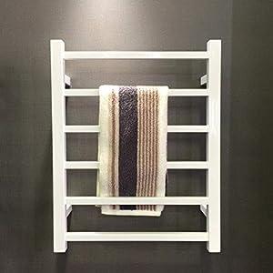 Toallero eléctrico negro, Calentador de toallas de lujo, Toallero eléctrico de acero inoxidable en aerosol Montado en la…
