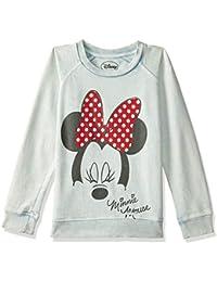 Mickey & Friends Kids Girls Denim Blue Color Sweatshirt