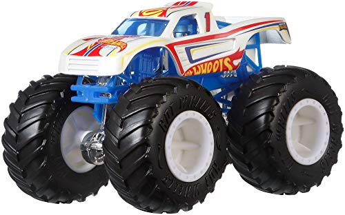 Hot Wheels GJY22 - Monster Trucks 1:64 Die-Cast Racing #1, Spielzeug ab 3 Jahren