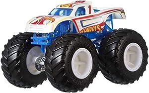 Hot Wheels - Monster Trucks Vehículo 1:64 tiburón, coches de juguetes (Mattel GJY22)