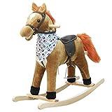 Schaukelstuhl Schaukelpferd Musik Massivholz Doppeltem Verwendungszweck Rocking Cradle Baby Geschenk Baby Spielzeug Pferd Trojan Kind Schaukelpferd 76 * 28 * 73cm FANJIANI (Farbe : A)