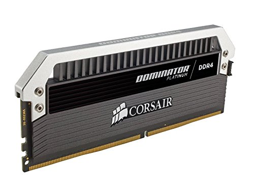 Corsair CMD64GX4M4B3466C16 Dominator Platinum DDR4 64 GB (4 x 16 GB ) 3466 MHz C16 XMP 2.0 Enthusiast Desktop Memory Kit with Dominator Airflow LED Fan Kit