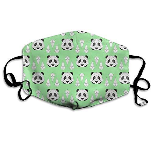 Panda – grüne Anti-Staub-Maske gegen Verschmutzungen, waschbar, wiederverwendbare ()