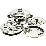eKitchen Diamond Stainless Steel Multi Steamer Pot- 2 Idli Plates (14 Idlis), 1 Mini Idli Plate (20 Mini Idlis) and 1 Multi Purpose Steamer/Idiyappam Steamer Plate (Induction Compatible)