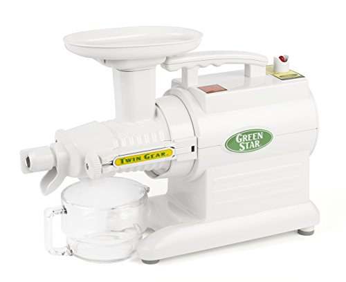 Tribest GS2000 Green Star Juicer, 190 W, White