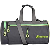 Stalwart Polyester Duffel Sports Gym Bag for Men/Women (Grey)