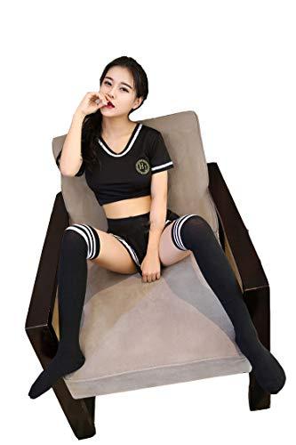 Wq zxc Costume da Sexy Lingerie da Donna Wear Tentazione Estrema Costume da Marinaio Costume da Calcio per Bambini,S