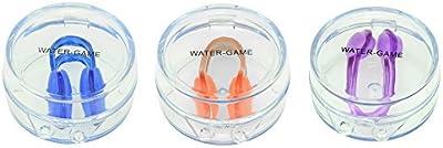 WATER-GAME Suave Clip de Nariz de Natación de Silicona con El Caso, Evitar El Agua en la Nariz y Fácil de Usar Y Almacenamiento / Deportes Acuáticos O Accesorios de la Piscina
