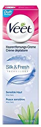 Veet Haarentfernungs-Creme Silk und Fresh sensible Haut, 1er Pack (1 x 100 ml)