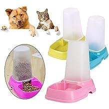 Nueva mascota gato perro automático dispensador de alimento agua comedero doble propósito Pet Bowl @ Kuntaashop