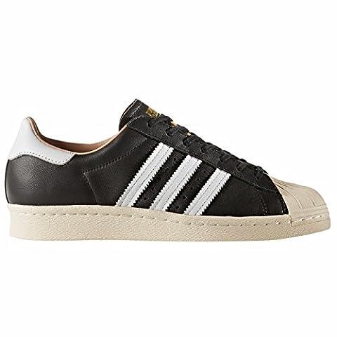 Adidas Zapatillas SUPERSTAR 80' Uomo Blanca-Negra zake BY2957, Black, 43