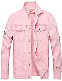 1404677a6eab Tookang Men s Western Style Classic Stretch Denim Jean Trucker Jacket  Cowboy Parka Stonewash Coat Casual Chest