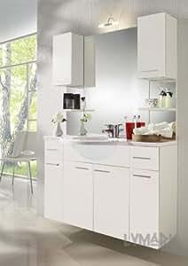 Alano badmöbelset mineralgussbecken et blanc avec éclairage!