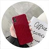 Couleur des Bonbons Bagages Cas de téléphone pour iPhone 6S 6 SX Silicone Souple Mignon pour iPhone 8 7 Plus XS Max XR Case TPU Retour Cas Fundas, Rouge, pour Iphone 5 Se 5S