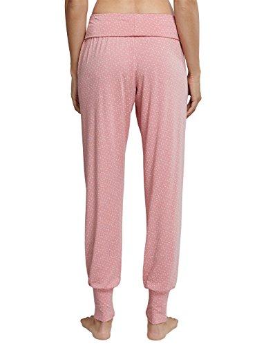 Schiesser Damen Schlafanzughose Mix & Relax Jersey Yogahose Lang Rot (Sorbet 524)