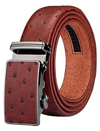 Mens Belt Ratchet Leather Dress Belt with Automatic Buckle 35mm Wide 27-40