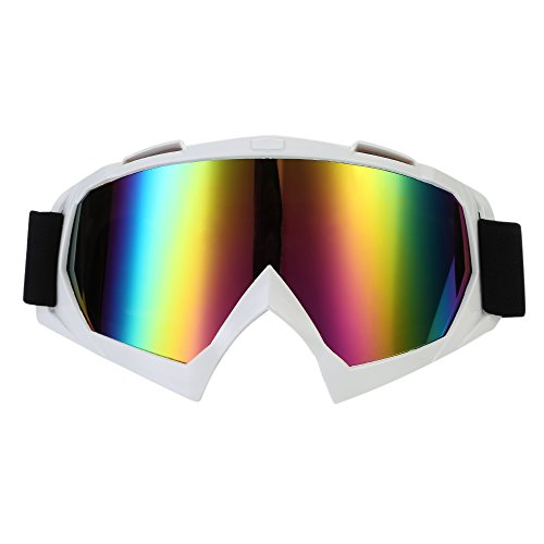 TKOOFN Occhiali per Motocross Materiali PC+TPU, Lenti Trasparenti/Colorati + Montatura di Vari Colori
