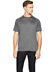 Under Armour UA Tech 2.0 SS tee Camiseta, Hombre, Negro (Gray/Black 002), S