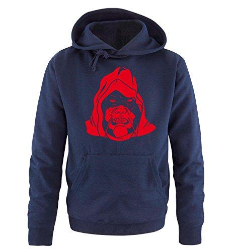Comedy Shirts - BAD BOY - Uomo Hoodie cappuccio sweater - taglia S-XXL different colors blu navy / rosso