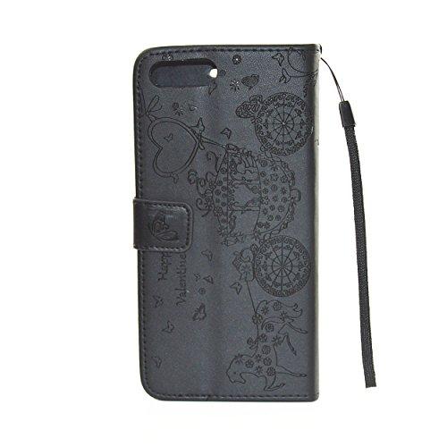 PU Cuir Coque Strass Case Etui Coque étui de portefeuille protection Coque Case Cas Cuir Swag Pour Apple iPhone 7 Plus (5.5 pouces) +Bouchons de poussière (5PP) 1