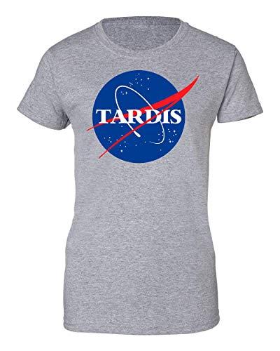 2b Tardis NASA Logo Inspired Artwork Camiseta de Mujer XX-Large