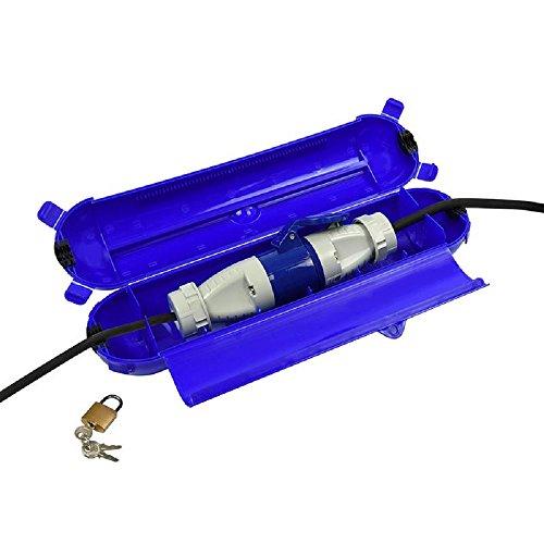 ProPlus 420358 Sicherheitsbox für CEE Stecker blau