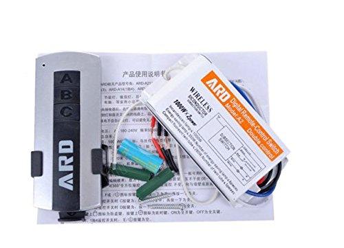 Digitale Power Control (Wosonku 180V-240V 2-Channel Digital Wireless Remote Control Power Switch Home Lighting)