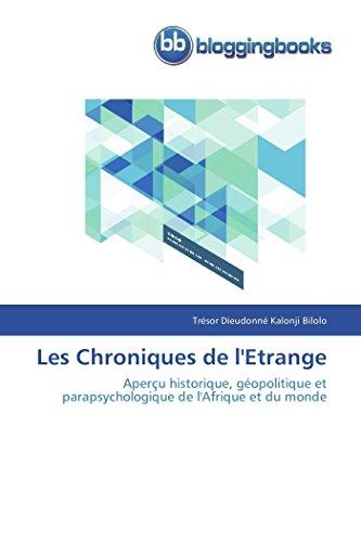 Les chroniques de l'etrange par Trésor Dieudonné Kalonji Bilolo