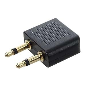 3,5 mm à 2 mm x 3,5 mm Avion Compagnie aérienne Voyage écouteur Jack audio Adaptateur