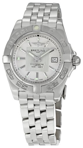 BREITLING GALACTIC 32 A71356L2-G702SS LADIES STAINLESS STEEL CASE DATE WATCH