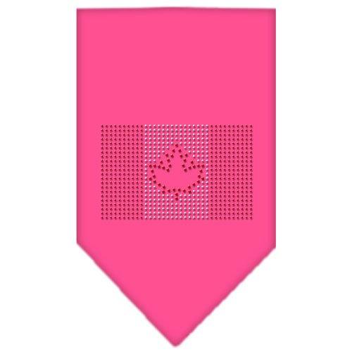 Mirage Pet Products Halstuch, Kanadische Flagge, Strasssteine, klein, Pink -