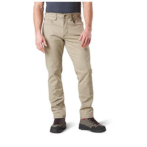 5.11 Tactical Herren Defender-Flex Slim Pants, Twill Polycotton Classic Pockets, Style 74464, Herren, Stone, 34Wx34L