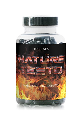 NATURE TESTO - 100 Kapseln - Trainings Booster - Extremer Focus - Extreme Power -
