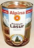 ALPINA Premium Lasur, 2,5 L. Holz Dickschichtlasur außen, Weiß