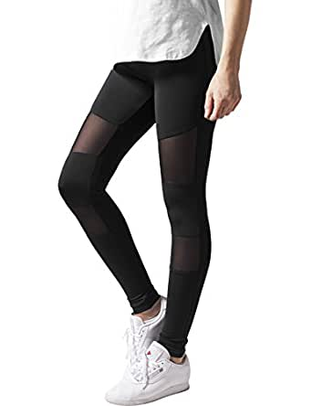 Urban Classics Ladies Tech Mesh Sport Leggings Yoga Pants schwarz