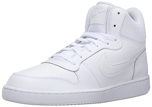 Nike Herren Court Borough Mid Basketballschuhe, Blanco (White/White-White), 43 EU