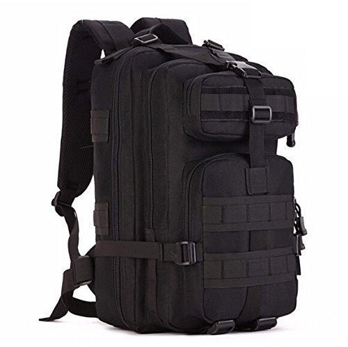 Mefly Gli Uomini Del Sacco Zaino 30L Per Escursione Trekking Camouflage Zaino Viaggio Zaino In Nylon Impermeabile Borsa Militare Pack Black Black