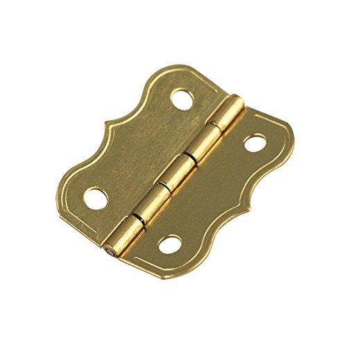 RAYHER 8954906 Zierscharniere, verm SB-Btl, 4 Stück mit Schrauben, 25 x 20 mm, gold