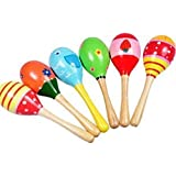 Liroyal Wooden Ball Children Boby Toys Percussion Musical Instruments Sand Hammer