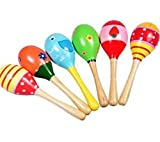 Liroyal Wooden Ball Children Boby Toys Percussion Musical Instruments Sand Hammer 1 Pcs