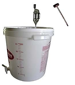 g reimer g rbeh lter 30 liter inkl ablasshahn und g rr hrchen weinthermometer. Black Bedroom Furniture Sets. Home Design Ideas