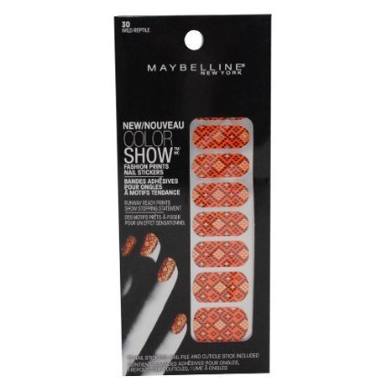 2 Pack- Maybelline Color Show Fashion Prints Nail Stickers #30 Wild Reptile