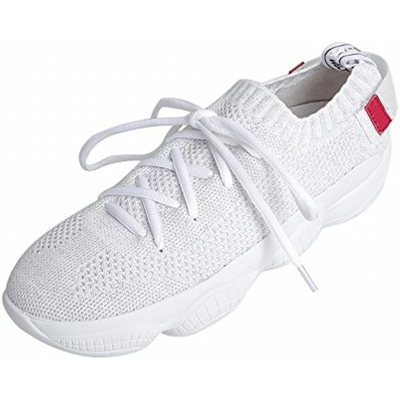 DIDIDD Dentelle Respirante Maille Décontracté en Cours D'Exécution Chaussures,Blanc,37 Fond Épais Muffin Femmes Chaussures,Blanc,37 D'Exécution - B07F7YY893 - 3aadc6